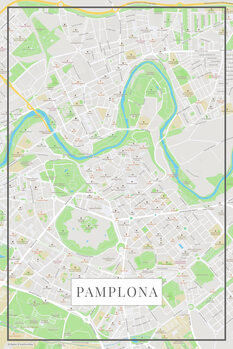 Mapa Pamplona color