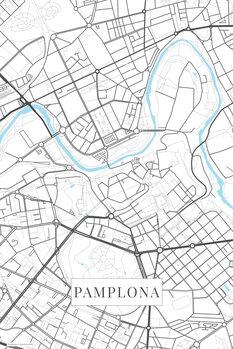 Mapa Pamplona white