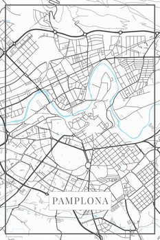 Mapa Pamplona white
