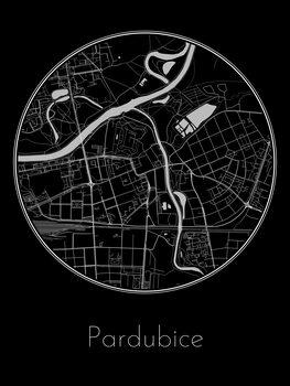 Mapa Pardubice