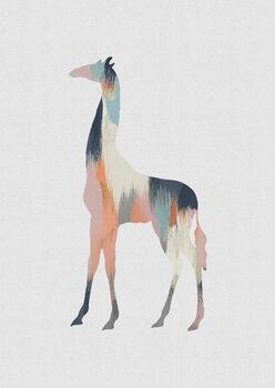 Ilustracija Pastel Giraffe
