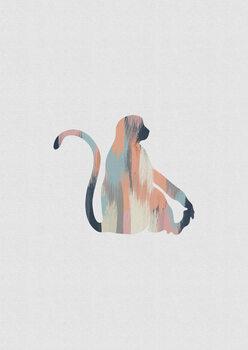 Ilustracija Pastel Monkey
