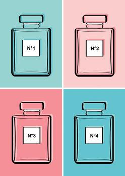 Illustrasjon Pastel perfumes