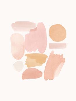 Ilustracja Peachy Shapes