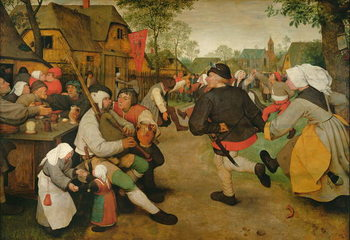 Peasant Dance, 1568 Reproduction de Tableau