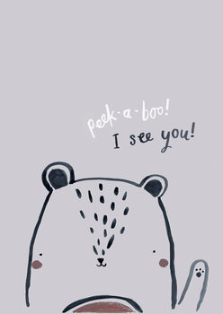 Illustration Peek a boo bear