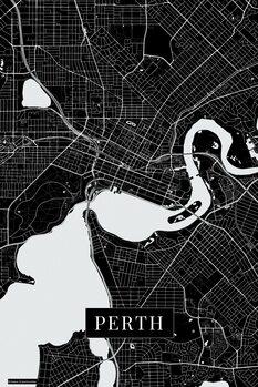 Mapa Perth black