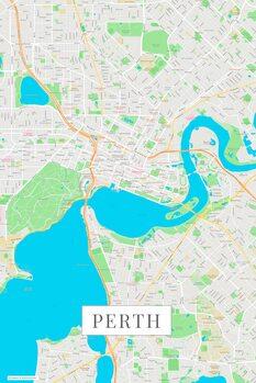 Mapa Perth color