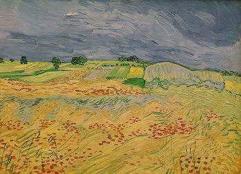 Plain at Auvers, 1890 Reproduction d'art