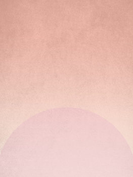 Illustration planet pink sunrise