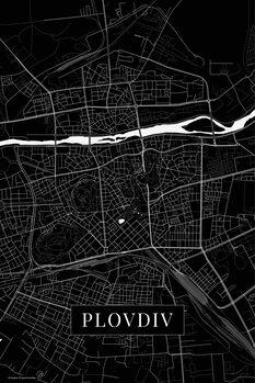 Mapa Plovdiv black