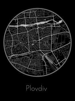Mapa Plovdiv