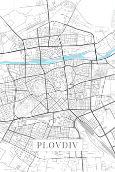 Mapa Plovdiv white
