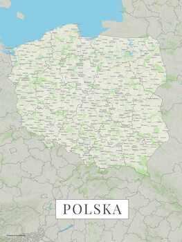 Mappa Poland color