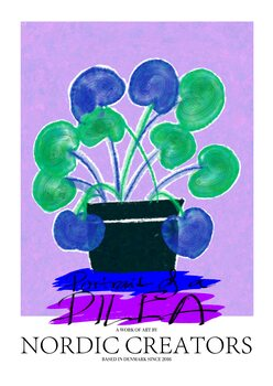 Ilustrácia Portait of a Pilea