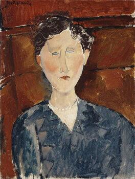 Obrazová reprodukce Portrait of a Woman in a Blue Blouse