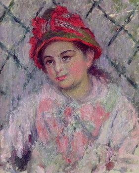 Reproducción de arte  Portrait of Blanche Hoschede (1864-1947) as a Young Girl, c.1880
