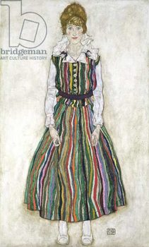 Portrait of Edith Schiele, the artist's wife, 1915 Kunstdruk