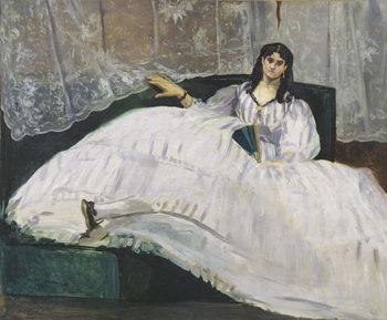Obrazová reprodukce  Portrait of Jeanne Duval, 1862
