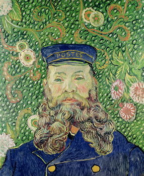 Portrait of the Postman Joseph Roulin, 1889 Kunstdruk