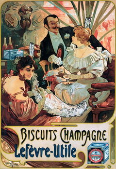 Kunstdruck Poster advertising Biscuits Champagne Lefèvre-Utile