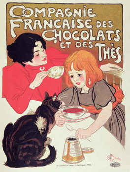 Poster advertising the Compagnie Francaise des Chocolats et des Thes, c.1898 Kunstdruck
