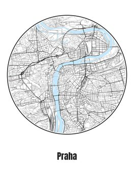 Mapa Praha