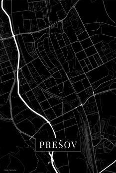 Mapa Presov black