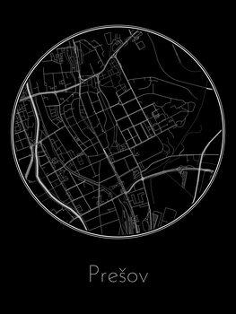 Mapa Prešov
