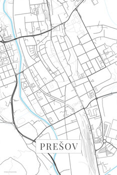 Mapa Presov white