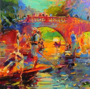 Obrazová reprodukce Punts, Clare Bridge