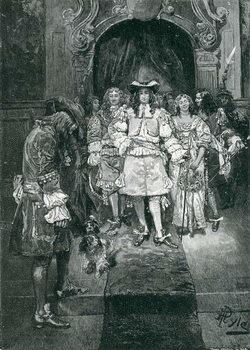 Artă imprimată Quaker and King at Whitehall