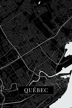 Mapa Quebec black