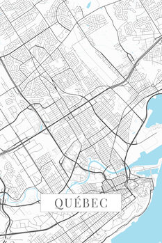 Mapa Quebec white