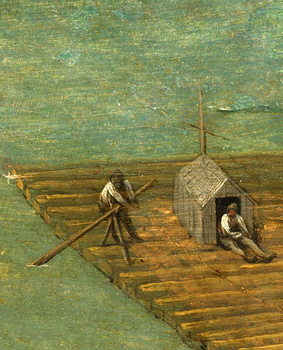 Raft detail from Tower of Babel, 1563 Kunstdruk