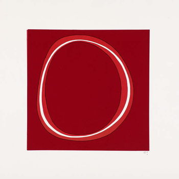 Red Circle Kunstdruk