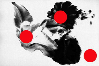 Obrazová reprodukce Red dots on flowers, 2019,