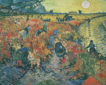 Red Vineyards at Arles, 1888 Kunsttryk