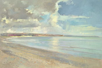 Obrazová reprodukce Reflected Clouds, Oxwich Beach, 2001
