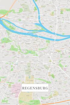 Harta Regensburg color