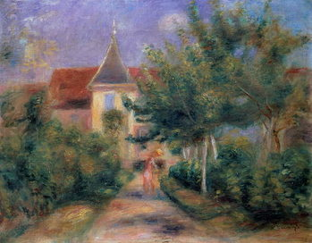 Renoir's house at Essoyes, 1906 , Kunstdruk