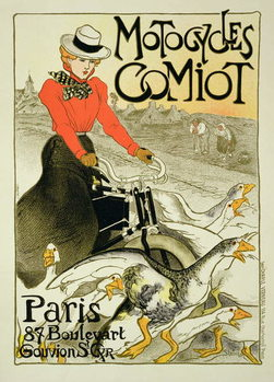 Reproduction of a Poster Advertising Comiot Motorcycles, 1899 Reproduction de Tableau