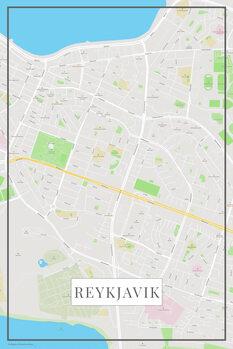 Mapa Reykjavik color