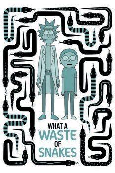 Druk artystyczny Rick and Morty - Waste of snakes