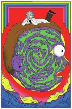Umělecký tisk Rick & Morty - Labyrinth