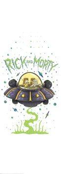 Plakat Rick & Morty - Statek kosmiczny