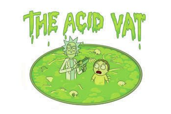 Poster Rick & Morty - The acid vat