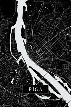 Mapa Riga black