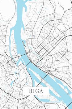 Mapa Riga white