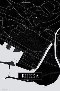 Mapa Rijeka balck